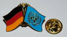 FREUNDSCHAFTSPIN 0145 PIN ANSTECKER DEUTSCHLAND / VEREINTEN NATIONEN UN FAHNE