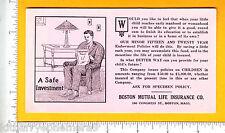 7290 Boston Mutual Life Insurance c 1930 blotter MA endowment policy