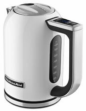 KitchenAid Stainless Steel Electric Variable Temp Water Kettle KEK1722WH White