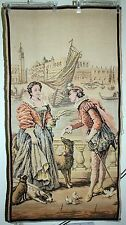 Tapestry  French Woven Classical  Scene LARGE PIECE Vintage /old