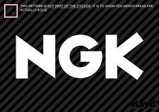 "(2x) NGK Decal Sticker Die Cut (8"" wide)"