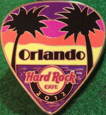 Hard Rock Cafe ORLANDO 2012 POSTCARD Series Guitar Pick PIN Hot New in HRC BAG!