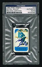 Michel Goulet signed autograph auto 1982 Post Cereal Hockey Card PSA Slabbed
