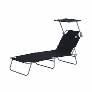 Outdoor-Liege Sonnenliege Relaxliege Gartenliege Liege Gartenmöbel schwarz  dg