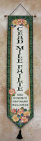 Irish Treasures St Patrick's Day Cead Mile Failte Tapestry Wall Hanging Bellpull