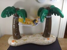 CORONA EXTRA BEER SIGN PALM TREE'S INFLATABLE POOL FLOAT BLOW UP NEW !!!