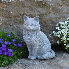 massif sculpture en pierre CHATS Figurine Décoration de jardin Animal d'espace