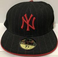 New York Yankees MLB New Era 59FIFTY Fitted Sz 7 3/4 Pinstripe Hat Baseball NEW