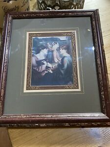framed print House Clearance Period Scene Original Collectable 14 X 12