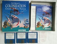 Sid Meier's Colonization by Microprose Commodore Amiga - Tested - VGC - Big Box