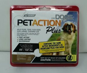 Petaction For Dogs Plus 89 - 132 Pounds Only 3 Doses