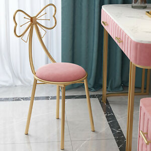 2PC Luxury Makeup Stool Chair Seat Soft Cushioned fr Bedroom Dining Room Terrace