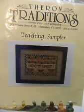 Theron Traditions Counted Cross Stitch Emboidery Kit Teaching Sampler 1987