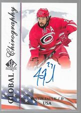 15/16 SP Authentic Global Chirography Auto Justin Faulk USA-JF Hurricanes