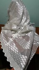 White/white swiss french lace fabric. Soft texture, great quality. Sold per 5 ya