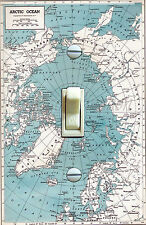 Vintage Map Arctic Ocean Decorative Single Switch Plate  ***FREE SHIPPING***