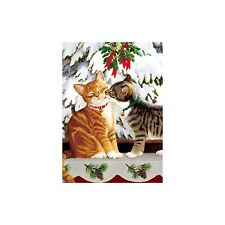 Wild Wings Kitten Kiss Christmas Greeting Card & Envelope by Tree Free