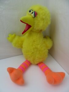 "Big Bird Plush Sesame Street 1992 22"" Stuffed Toy Talking"