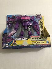 Transformers Cyberverse Deception Shockwave Shockblast Action Figure New