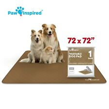"""72x72"""" 4XL Paw Inspired Washable Pee Pads for Dogs, Puppy Wee Wee Training Pad"""