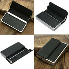 New Black Leather Business Name ID Credit Card Holder Case Keeper Organizer