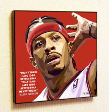Allen Iverson NBA Backetball Wall Decor Print Wall Art Poster pop