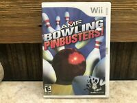 AMF Bowling: Pinbusters Nintendo Wii, 2007 - *DISC ONLY READ* TESTED #3