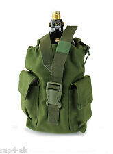 MOLLE Vertical CO2 Paintball Airsoft Air  Tank Pouch (Large) (Olive Drab) [EX5]