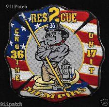 Memphis, TN - Engine 36 Unit 17 Rescue 2 FIREFIGHTER Patch Fire Dept.