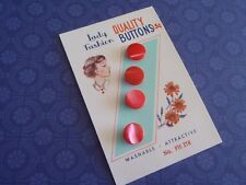 4 Vintage Pearl Buttons Red Lady Fashion 12mm sew quilt craft jewelry scrapbook