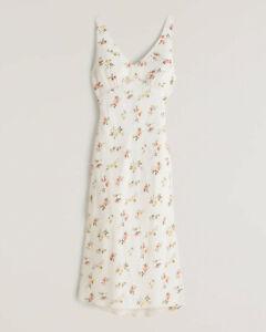 Abercrombie White Floral Summer Dress Large petite