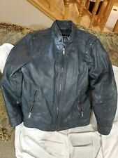 Men's Clothing GUESS Black Coat Jacket Faux Leather Blueish Grey Size Med