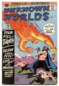 Unknown Worlds #51 1966- Human Torch rip-off cover VG