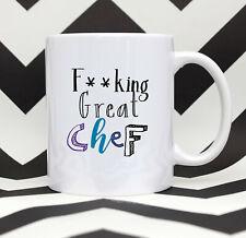 F**king Great Chef Coffee Mug Chef Gift Chef Thank You Mug Chef Tea Mug Chef