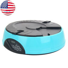 New listing 6 Meal Timed Automatic Pet Feeder Auto Dog Cat Small Animal Food Bowl Dispenser