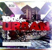 3CD NEW SEALED - 100% URBAN - R&B Pop Club Party Music 3x CD Album Box Set