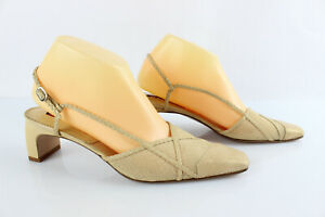 CAREL Open Court Shoes Leather Beige T 38,5 /UK 5,5 Very Good Condition