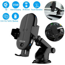 New Car Wireless Charger Mount Qi Certified Fast Charging Mount 15W IR Sensor