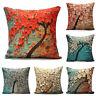 3D Flower Cotton Linen Pillow Case Waist Back Throw Cushion Cover Home Decor