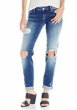NEW Mavi Women's Emma Indigo Extreme Rip Vintage Slim Boyfriend Jeans Sz 25 $128