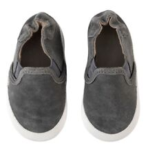 Robeez Soft Soles Grey Leather Charcoal Baby Shoes 12-18M - Brand New Sealed