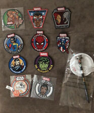 Bundle Of Marvel and Star Wars iron on patches lot W/ Marvel Pen And Pad