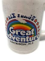 Vintage Six Flags Great Adventure Jackson New Jersey Theme Park Rainbow Cup Mug
