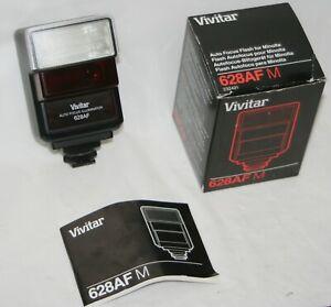 Vivitar 628AF M Auto Camera Flash for Minolta TTL X5000 X7000 X9000 etc Complete