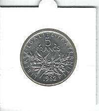 FRANCE 5 Francs Argent Semeuse 1962 Silver coin