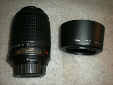 Nikon AF-S DX NIKKOR 55-200mm f/4-5.6G ED VR Zoom Lens & HB-37 Hood