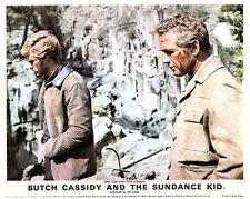 Butch Cassidy and the Sundance Kid original lobby card Redford & Newman jump