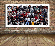 Football Legends Canvas Print 38 x 20 WoW - LT, Montana, Marino, Butkus and more
