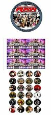 """PARTY PACK -  WWE SUPERSTARS  PERSONALIZED 7.5"""" CIRCLE ICING CAKE TOPPER"""