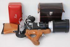 LEICA SABRE GUN STOCK FILM CAMERA OUTFIT W/IIIF +VISOFLEX +400MM TELYT CASE MINT